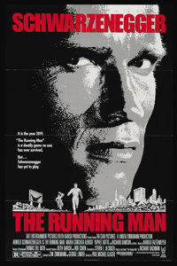 "The Running Man (Tri Star Pictures, 1987). One Sheet (27"" X 41""). Sci-Fi Action. Directed by Paul Michael Glas..."