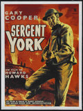 "Movie Posters:War, Sergeant York (Warner Brothers, R-1950). French Petite (21.5"" X29.5""). War. Directed by Howard Hawks. Starring Gary Cooper,..."