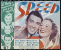 "Movie Posters:Action, Speed (MGM, 1936). Herald (6"" X 7""). Sports Drama. Directed byEdwin L. Marin. Starring James Stewart, Wendy Barrie, Una Mer..."