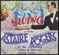 """Movie Posters:Musical, Swing Time (RKO, 1936). Herald (8"""" X 9""""). Romantic Musical. Directed by George Stevens. Starring Fred Astaire, Ginger Rogers..."""
