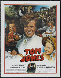 """Tom Jones (United Artists, 1963). French Petite (23"""" X 30.5""""). Adventure Comedy. Directed by Tony Richardson..."""