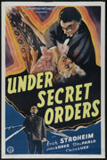 "Movie Posters:War, Under Secret Orders (Guaranteed Pictures, 1943). One Sheet (27"" X41""). Spy Drama. Directed by Edmond T. Greville. Starring ..."