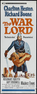"Movie Posters:War, The War Lord (Universal, 1965). Insert (14"" X 36""). HistoricalDrama. Directed by Franklin J. Schaffner. Starring Charlton H..."