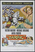 "Movie Posters:Adventure, Zarak (Columbia, 1956). One Sheet (27"" X 41""). Adventure. Directedby Terence Young. Starring Victor Mature, Michael Wilding..."