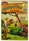 Golden Age (1938-1955):Science Fiction, Adventure Comics #201 (DC, 1954) Condition: VG. Curt Swan cover.Superboy, Aquaman, Johnny Quick, and Green Arrow features. ...