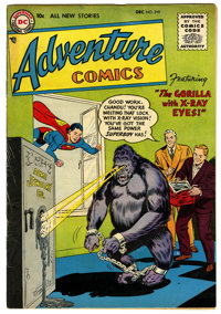 Adventure Comics #219 (DC, 1955) Condition: FN. Gorilla cover by Curt Swan. Superboy, Aquaman, and Green Arrow stories...
