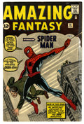 Silver Age (1956-1969):Superhero, Amazing Fantasy #15 (Marvel, 1962) Condition: Apparent VG/FN.Origin and first appearance of Spider-Man. First appearance of...