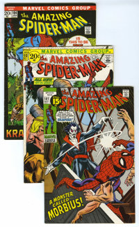 The Amazing Spider-Man Group (Marvel, 1971-73) Condition: Average VF. What more could you ask for? This high-flying Spid...