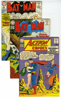 Batman/Action Comics Group (DC, 1962-) Condition: Average VF. This group contains Action Comics #289 (sixteenth Legion o...