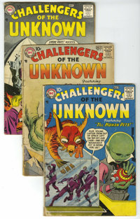 Challengers of the Unknown #1-77 Box Lot (DC, 1958-71) Condition: Average VG+. This short box of Challengers of the Unkn...
