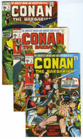 Bronze Age (1970-1979):Miscellaneous, Conan the Barbarian group (Marvel, 1970-72) Condition: Average VF-. Group of four Conan the Barbarian comics includes #2...