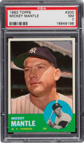 Baseball Cards:Singles (1960-1969), 1963 Topps Mickey Mantle #200 PSA NM 7....