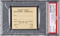 Baseball Collectibles:Tickets, 1927 Babe Ruth & Lou Gehrig Barnstorming Ticket Stub PSAAuthentic....