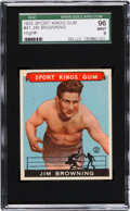 Baseball Cards:Singles (1930-1939), 1933 Sport Kings Jim Browning #41 SGC 96 Mint 9 - The Finest SGC Example! ...