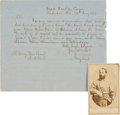 Photography:CDVs, Confederate General Joseph Wheeler War-Dated Letter Signed and Carte de Visite.... (Total: 2 )