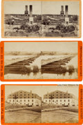 Photography:Stereo Cards, Lot of Three Stereoview Photographs With Civil War Scenes.... (Total: 3 )