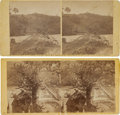 Photography:Stereo Cards, [Stereoviews] Pair of Stereoviews Featuring Scenes of Jericho Mills and Quarles' Mill, North Anna, Virginia, May, 1864....