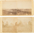 Photography:Stereo Cards, Two Stereoviews From Negatives by Alexander and James Gardner Featuring Civil War Scenes....