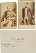 Photography:CDVs, Pennsylvania Governor Andrew Gregg Curtin Cartes de Visite and Clipped Signature.... (Total: 3 )