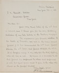 """Autographs:Military Figures, Union General William Tecumseh Sherman Letter Signed """"W. T. Sherman""""...."""