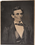 Photography:Studio Portraits, Alexander Hesler and George B. Ayers Photograph of Abraham Lincoln....