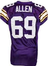sports shoes 0482a f41ad 2009 Jared Allen Game Worn Unwashed Minnesota Vikings Jersey ...