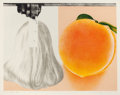 Prints, JAMES ROSENQUIST (American, b. 1933). When a Leak, 1980. Lithograph in colors. 39-1/2 x 50-1/2 inches (100.3 x 128.3 cm)...