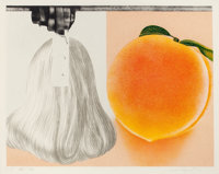 JAMES ROSENQUIST (American, b. 1933) When a Leak, 1980 Lithograph in colors 39-1/2 x 50-1/2 inche