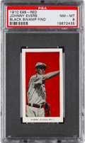 """Baseball Cards:Singles (Pre-1930), 1910 E98 """"Set of 30"""" Johnny Evers (Red) """"Black Swamp Find"""" PSA NM-MT 8 - Only One Higher. ..."""
