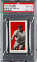 "Baseball Cards:Singles (Pre-1930), 1910 E98 ""Set of 30"" Hans Wagner (Red) ""Black Swamp Find"" NM-MT 8 -Highest Grade Still Available. ..."
