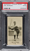 Baseball Cards:Singles (Pre-1930), 1916 M101-4 Sporting News Joe Jackson #87 PSA Good 2. ...