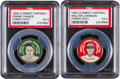 Baseball Cards:Lots, 1909-12 PX7 Sweet Caporal Domino Discs Johnson/Chance Pair (2). ...