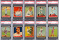 Baseball Cards:Lots, 1933 Goudey Baseball PSA Graded Collection (29) - With BothGehrig's and Three Babe Ruth Cards! ...