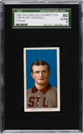 Baseball Cards:Singles (Pre-1930), 1909-11 T206 Sovereign Rube Waddell, Portrait SGC 80 EX/NM 6 -Finest Sovereign Example! ...