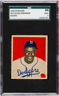 Baseball Cards:Singles (1940-1949), 1949 Bowman Jackie Robinson #50 SGC 96 Mint 9 - Pop Three, OneHigher....
