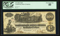 "Confederate Notes:1862 Issues, Manuscript Endorsement ""T(haddeus) Sanford"" T39 $100 1862 PF-13 Cr.294.. ..."