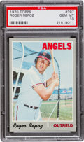 Baseball Cards:Singles (1970-Now), 1970 Topps Roger Repoz #397 PSA Gem Mint 10 - Pop One! ...