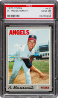 Baseball Cards:Singles (1970-Now), 1970 Topps Andy Messersmith #430 PSA Gem Mint 10 - Pop One! ...
