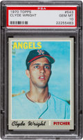 Baseball Cards:Singles (1970-Now), 1970 Topps Clyde Wright #543 PSA Gem Mint 10 - Pop One! ...