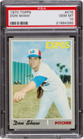 Baseball Cards:Singles (1970-Now), 1970 Topps Don Shaw #476 PSA Gem Mint 10 - Pop One! ...