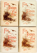 Books:Natural History Books & Prints, [Hunting]. Group of Four Books in the Fur, Feather and Fin Series. London: Longmans, Green, 1893-1909. Subjects incl... (Total: 4 Items)