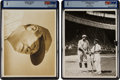 Baseball Collectibles:Photos, 1921-41 Babe Ruth Original News Photographs (2), PSA/DNA Type 1....