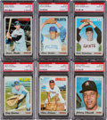 Baseball Cards:Lots, 1970 Topps Baseball Graded PSA GEM MT 10 Collection (6) - Each PopFour. ...