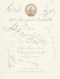 Music Memorabilia:Autographs and Signed Items, Beatles - John Lennon And Others Signed 1977 Jimmy CarterPresidential Inaugural Gala Performance Program....