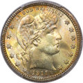 Barber Quarters, 1911 25C MS67 PCGS....