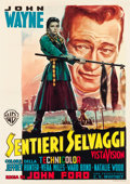 "Movie Posters:Western, The Searchers (Warner Brothers, 1956). Italian 2 - Foglio (38.5"" X54.5"").. ..."