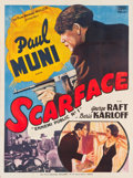 """Movie Posters:Crime, Scarface (FGM, R-1950s). French Grande (40.75"""" X 62.5"""").. ..."""