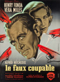 """Movie Posters:Hitchcock, The Wrong Man (Warner Brothers, 1957). Full-Bleed French Grande (44.25"""" X 60"""").. ..."""