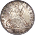 Seated Half Dollars, 1858-O 50C MS66 PCGS. CAC. WB-101, Die Pair 29, R.3....