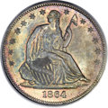 1864 50C MS67 PCGS. CAC. WB-101, High R.4 in Mint State. ...(PCGS# 6311)